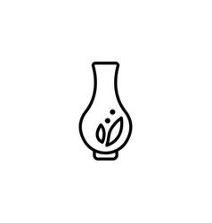 web line icon vase black on white background vector image