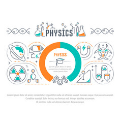 Website banner and landing page physics vector