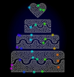 wire frame mesh marriage cake with spectrum vector image