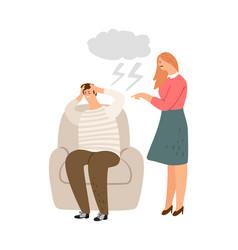 woman abuse behavior vector image