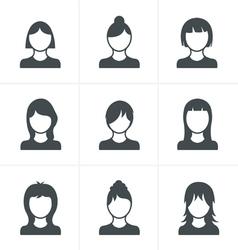 Woman Icons Set Design vector