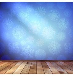 Christmas Decor blue bright EPS 10 vector image