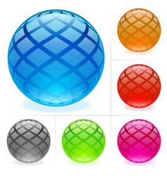 Glossy spheres vector
