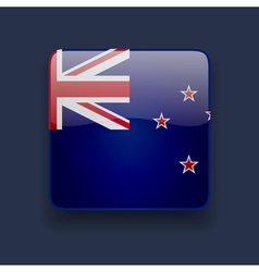 Square icon with flag of New Zealand vector image vector image