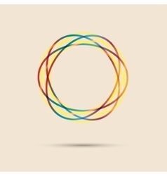 Abstract colored circular line vector image
