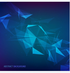 abstract particles and lines vector image