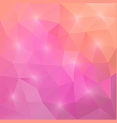 abstract triangular mosaic pink background vector image vector image