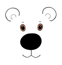 bear cute funny cartoon head vector image