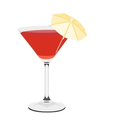 Coctail glass vector image