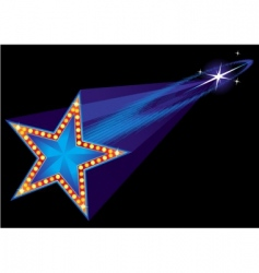 coming star vector image vector image