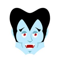 dracula happy emoji vampire merry emotion face vector image vector image