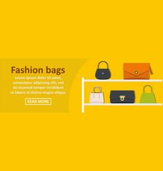 fashion bags banner horizontal concept vector image vector image