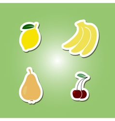 set of color icons with fruits for your design vector image vector image