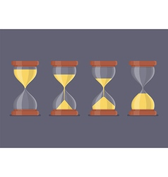 Transparent sandglass icon set vector