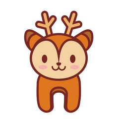 cartoon deer animal image vector image vector image