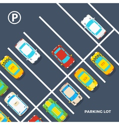 Parking Lot Poster vector image vector image