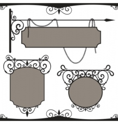 vintage wrought iron signs vector image