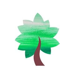 Abstract Watercolor Tree vector image