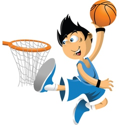 Basketball player vector image vector image