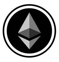 coin crypto currency ethereum vector image