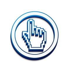 hand mouse cursor vector image vector image
