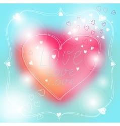 Lovely Valentine card with lettering style vector image