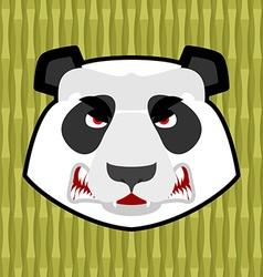 Panda angry Furious Chinese bear Animal furious vector image vector image