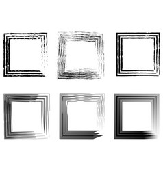 set of abstract photo frames vintage frame hand vector image
