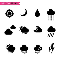 Weather icons set 2 vector image