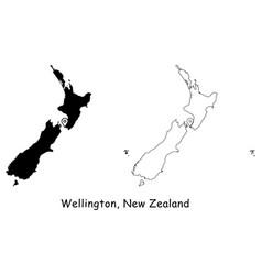 1125 wellington new zealand vector image