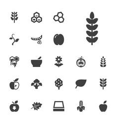 22 organic icons vector