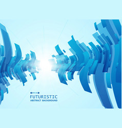 abstract of gradient blue futuristic pattern vector image