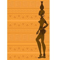 African tribal seminude girl vector