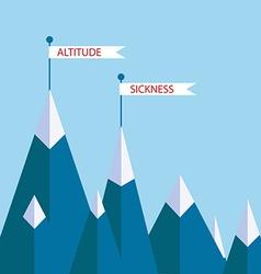Altitude sickness mountains vector