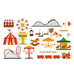 Amusement park elements on vector