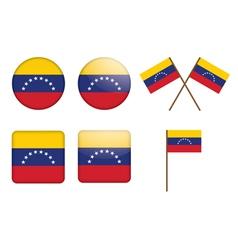 badges with flag of Venezuela vector image