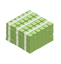 big stacked pile cash vector image