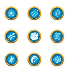 Biochemistry icons set flat style vector