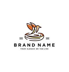 Bird logo design vector