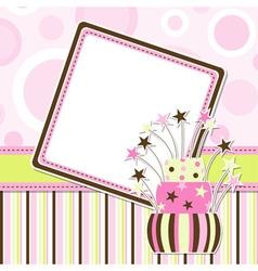 birthday celebration card vector image