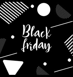Black friday lettering hand made calligraphy vector