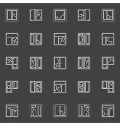 Broken window concept icons vector image