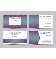 Business-card set with elegant round design vector