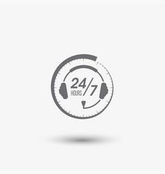 call center 24 icon vector image