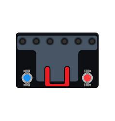 Car accumulator battery icon auto engine flat vector