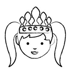 cartoon princess icon vector image