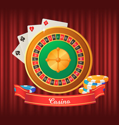 casino roulette playing cards gambling vector image