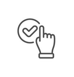 Checkbox line icon approve sign vector