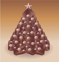 Christmas tree chocolate v vector