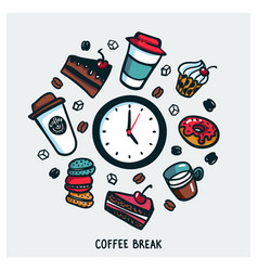 Coffee break concept time for a coffee break vector
